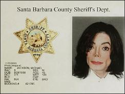 Jackson's booking photo and personal information from the Santa Barbara County Sheriff's Department in Santa Barbara, Calif.