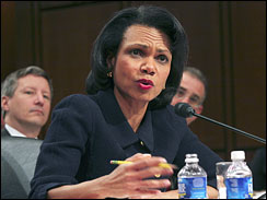 Condoleeza defends $85 Million request {Img: CBS}
