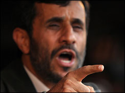 file shot of Ahmadinejad