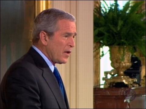 Bush 'Not Satisfied' On Iraq