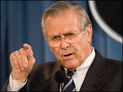 rumsfeld at briefing