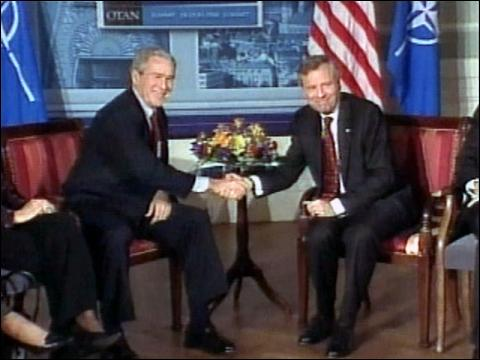 Bush In Latvia For NATO Summit