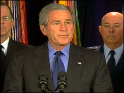 President Bush speaks at Pentagon re: Iraq strategy (12/13/06)
