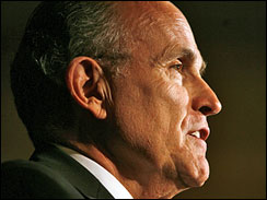 Republican presidential hopeful Rudy Giuliani speaks to members of the Republican Party of Virginia in Vienna, Va.