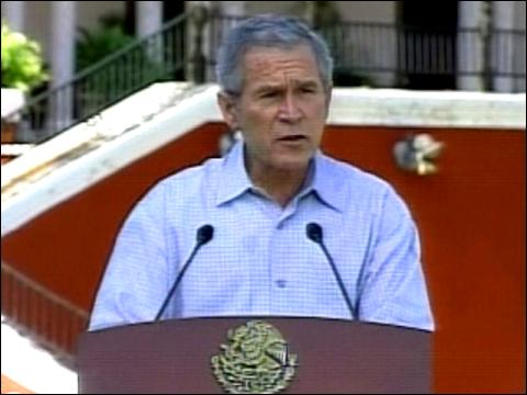 Bush Highlights Ties To Mexico
