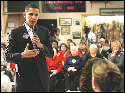U.S. Sen. Barack Obama, new hampshire, democratic primary,