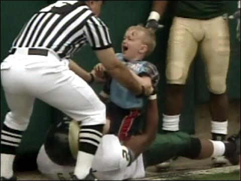 Toddler Tackled In End Zone