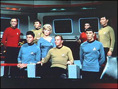 The cast of TV\'s Star Trek (1967)