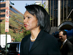 Secretary of State Condoleezza Rice, CBS studio, Washington, April 29, 2007