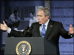 President Bush speaks to the Associated General Contractors of America meeting in Washington
