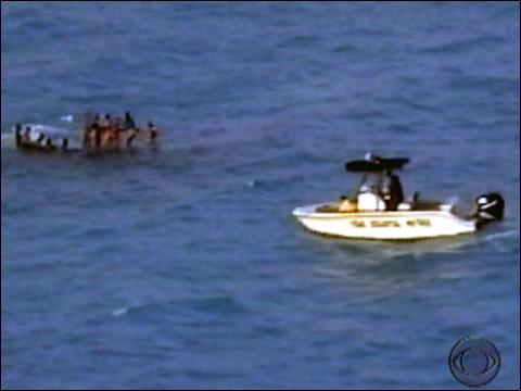 Boat With Haitians Capsizes