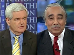 Newt Gingrich and Charles Rangel on Face The Nation, May 6, 2007