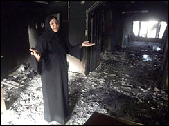 Palestinian woman, Gaza City, Hamas-Fatah fighting, May 19, 2007