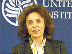 Haleh Esfandiari, director of the Middle East program at the Woodrow Wilson Center