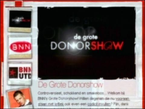 'Donor Show' Fuels Controversy