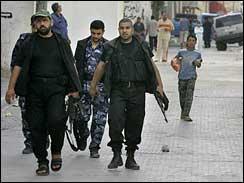 Hamas gunmen near Haniyeh\'s home