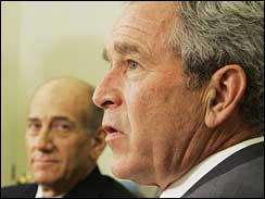 Olmert and Bush