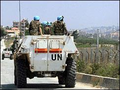 U.N. peacekeepers, Lebanon, June 18, 2007