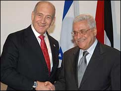 Olmert and Abbas at Sharm el-Sheikh