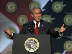 President George W. Bush addressing the American Legion 89th Annual Convention