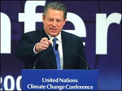 Nobel Peace Prize laureate Al Gore