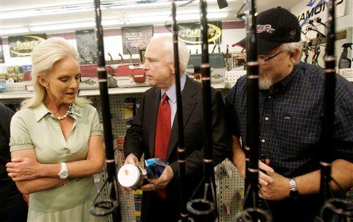 John McCain at a gun show