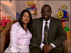 Larry and Jacel Brown, parents of Jadan Brown