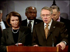 Senate Majority Leader Harry Reid and Speaker of the House Nancy Pelosi