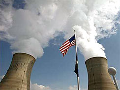 The cooling towers of Three Mile Island's Unit 1 Nuclear Power Plant pour steam into the sky in Middletown, Pa., in this March 17, 2009 file photo. Radioactive tritium, a carcinogen, now taints at least 27 of the nation's 104 nuclear reactors — raising concerns about how it is escaping from the aging nuclear plants.
