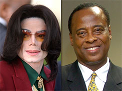 Michael Jackson and his personal physician, Dr. Conrad Murray.