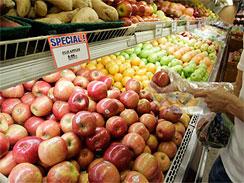 一個客戶需要挑選出紅富士蘋果在市場中的帕洛阿爾托,加利福尼亞州