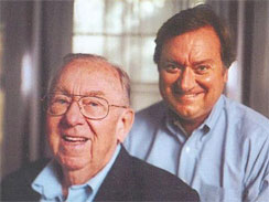 Tim Russert, Sr., left and his son. From the front cover of