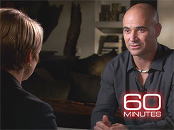 Andre Agassi, speaking with Katie Couric.