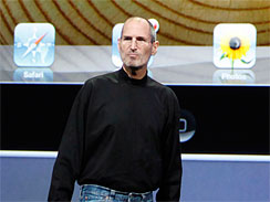 CEO Steve Jobs shows off the iPad
