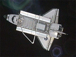 Shuttle Discovery in Space - STS-131 Mission