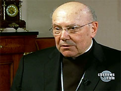 Cardinal William Levada, shown on an interview with PBS' _NewsHour._