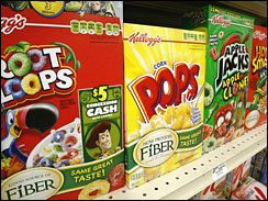 Kellogg is recalling 28 million boxes of Froot Loops, Corn Pops, Apple Jacks, and Honey Smacks.(AP Photo/Gene J. Puskar)