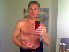 This undated photo provided by Gawker shows Rep. Chris Lee, R-N.Y., posing shirtless in front of a mirror. The gossip website Gawker reported Wednesday, Feb. 9, 2011 that Lee, a married two-term Republican lawmaker, had sent the shirtless photo of himself to a woman he met on Craigslist.